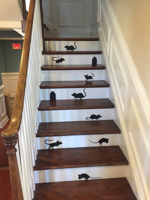 Stairs in Slawek Orthodontics with Halloween Decorations